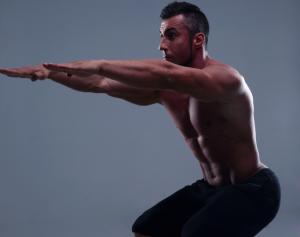 man performing pelvic floor exercise